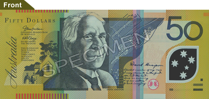 Australian $50 note - David Unaipon