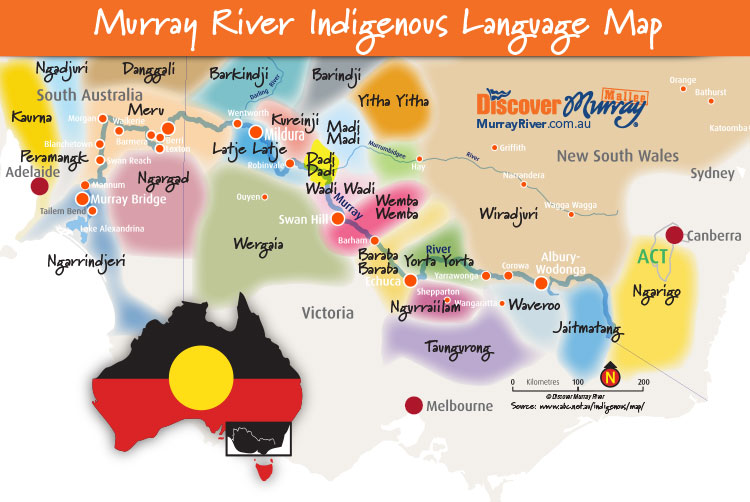 Indigenous Aboriginal Murray River Languages Map