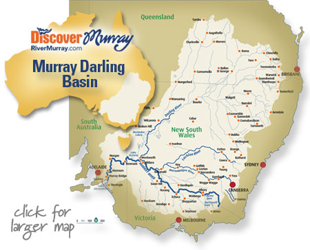 Map Of Australia Natural Features.Murray Darling Basin