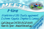 25% off full day kayak hire with Breeze Hire