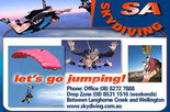 25% off a tandem skydive with SA Skydiving
