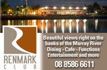 10% off all bistro meals at the Renmark Club