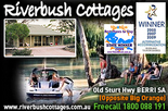 4th night free & bottle of local wine with Riverbush Cottages