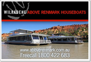 Above Renmark Houseboat Holidays