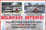 $2 off an Adult cruise fair with Mildura Paddlesteamers