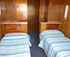 2x cabins with 2x single beds