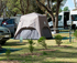 Grass sites suitable for tents and camper trailers