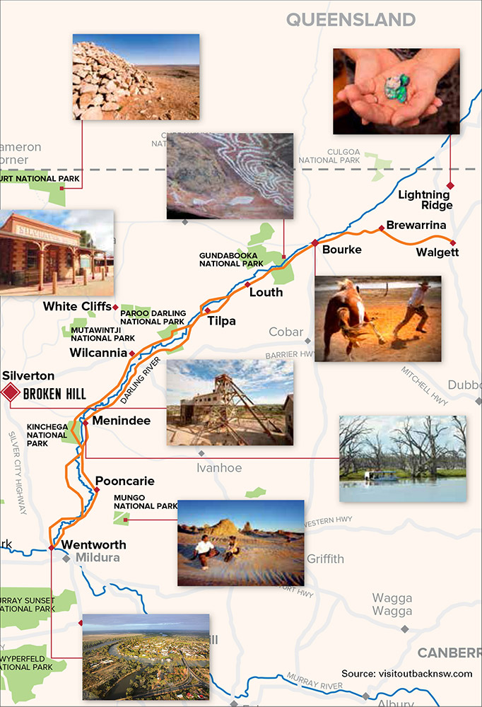 Darling River Run map