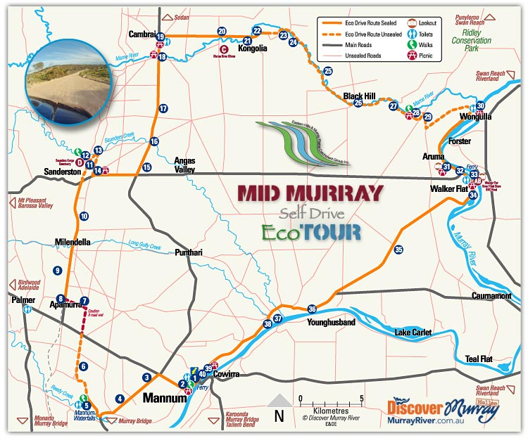 Mid Murray Eco Drive map