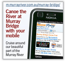 Canoe the river at Murray Bridge on your mobile