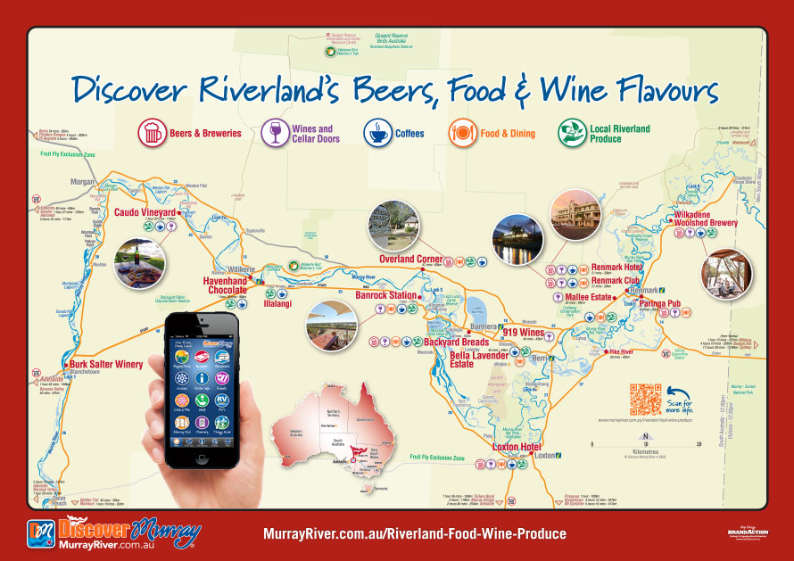 Discover Destination Riverland Beers, Food & Wine Flavours Map
