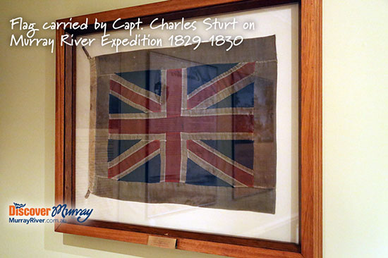 Flag raised by Captain Charles Sturt when he named the Murray River in 1830