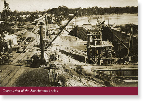 Blanchetown Lock 1 construction