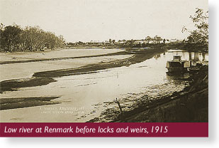 Low river in Renmark