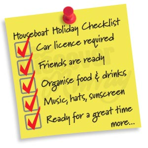 Houseboat Holiday Checklist