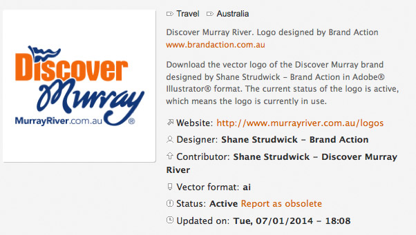 Murray River logo on Brands of the World