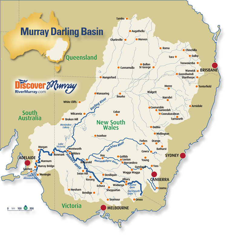 Murray Darling basin map