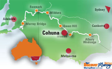 Map of Cohuna