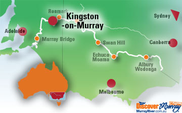 Map of Kingston-on-Murray