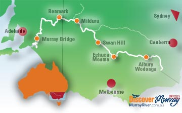 Australia Map Rivers.List Of All Murray River Towns