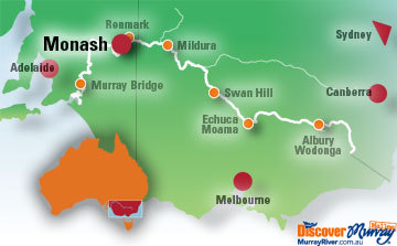 Map of Monash