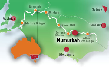 Numurkah Map