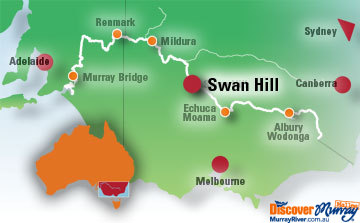 Map Of Australia Natural Features.Swan Hill Victoria Accommodation Attractions And Information