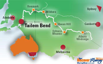 Map of Tailem Bend