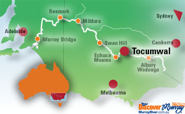 Map of Tocumwal