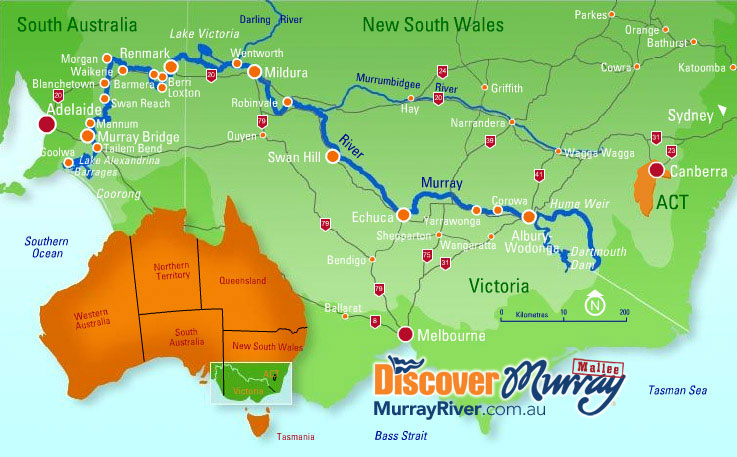 Australia Map Rivers.Discover Murray River Map
