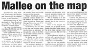 Border Times - Mallee on the Map