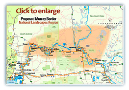 Murray River National Landscapes region map