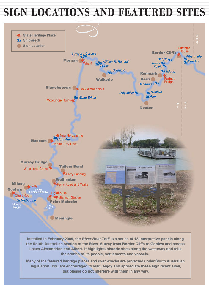 River Boat Trail map