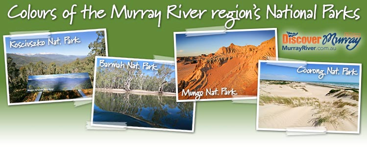 Colours of the Murray River region's National Parks