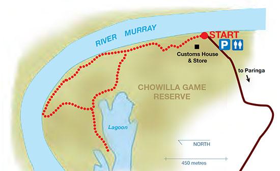 Border Cliffs Customs House Wetland Walk map