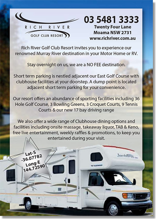 Rich River Resort RV parking