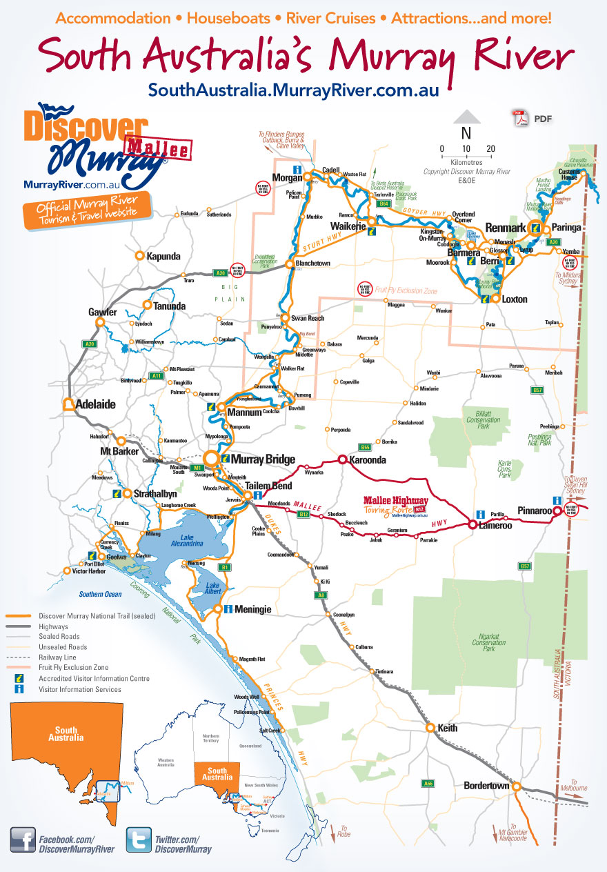 Map Of Australia Murray River.South Australia S Murray River Go With The Flow