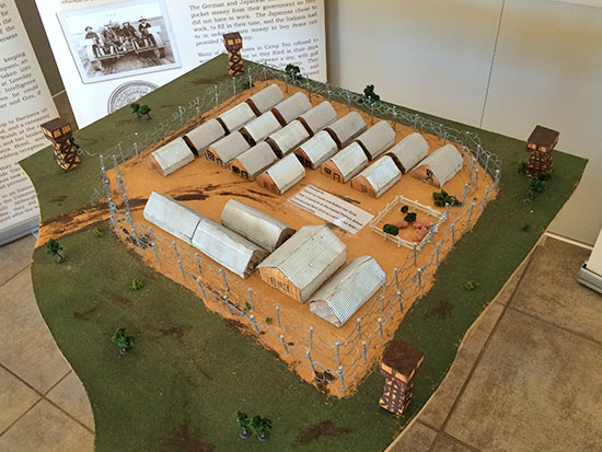 Loveday Internment Camp model - Barmera - Discover Murray River War Trail