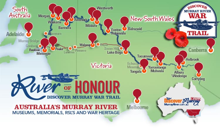 Discover Murray River War Trail map